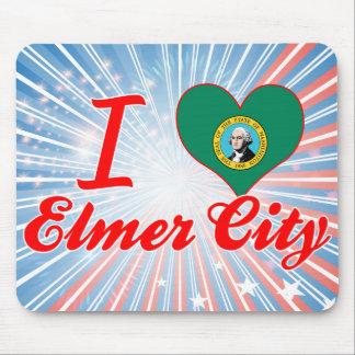 Amo la ciudad de Elmer, Washington Mousepad