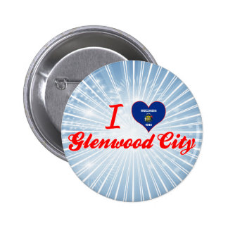 Amo la ciudad de Glenwood, Wisconsin Pins