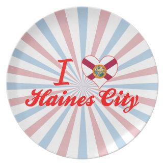 Amo la ciudad de Haines, la Florida Plato