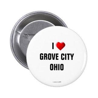Amo la ciudad de la arboleda Ohio Pins