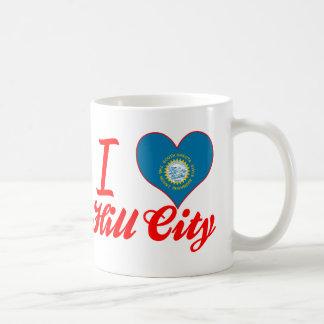 Amo la ciudad de la colina, Dakota del Sur Taza De Café