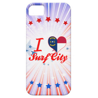 Amo la ciudad de la resaca, Carolina del Norte iPhone 5 Case-Mate Protectores