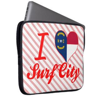 Amo la ciudad de la resaca, Carolina del Norte Fundas Ordendadores