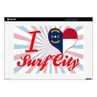 Amo la ciudad de la resaca, Carolina del Norte Portátil 38,1cm Skins