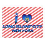 Amo la ciudad de Long Island, Nueva York Tarjetas Postales