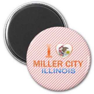 Amo la ciudad de Miller, IL Imán Para Frigorifico