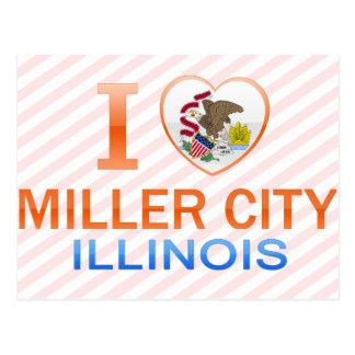 Amo la ciudad de Miller, IL Postal