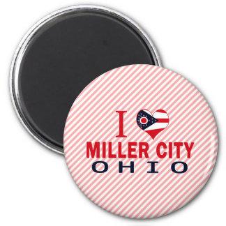 Amo la ciudad de Miller, Ohio Imán De Nevera