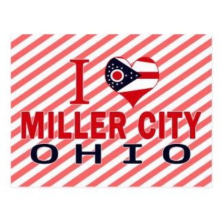 Amo la ciudad de Miller, Ohio Tarjeta Postal