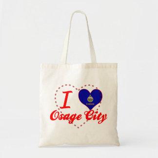 Amo la ciudad de Osage Kansas Bolsa