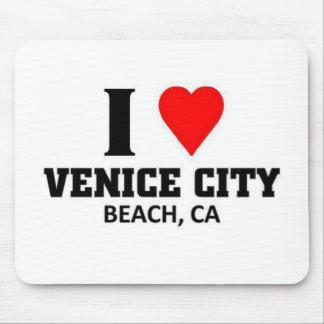 Amo la ciudad de Venecia Tapetes De Ratones