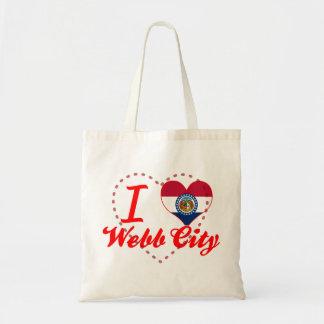 Amo la ciudad de Webb, Missouri Bolsas De Mano