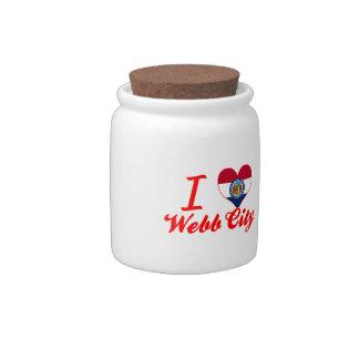 Amo la ciudad de Webb, Missouri Jarras Para Caramelos