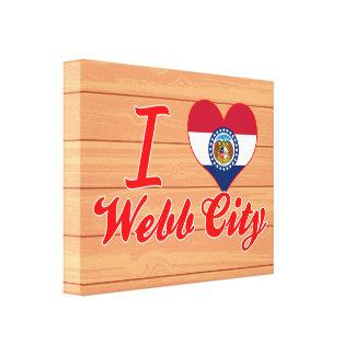 Amo la ciudad de Webb, Missouri Impresiones En Lienzo Estiradas