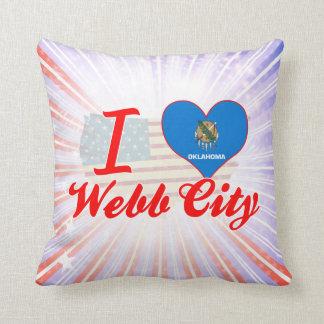 Amo la ciudad de Webb, Oklahoma Almohadas