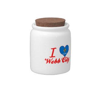 Amo la ciudad de Webb, Oklahoma Plato Para Caramelo