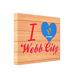 Amo la ciudad de Webb, Oklahoma Impresiones En Lienzo Estiradas