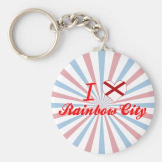 Amo la ciudad del arco iris, Alabama Llavero Personalizado