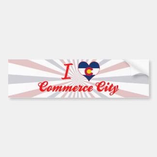 Amo la ciudad del comercio, Colorado Pegatina De Parachoque