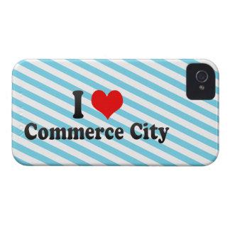 Amo la ciudad del comercio, Estados Unidos Case-Mate iPhone 4 Funda