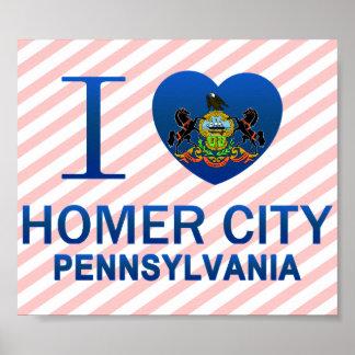 Amo la ciudad del home run, PA Posters