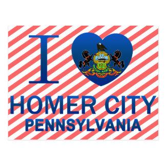 Amo la ciudad del home run, PA Tarjeta Postal