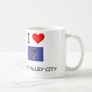Amo la ciudad del oeste Utah del valle Taza De Café