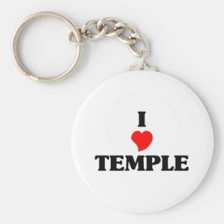Amo la ciudad del templo llavero redondo tipo pin