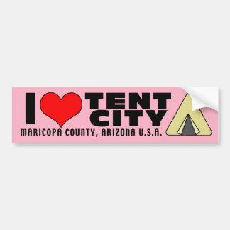 Amo la ciudad el condado de Maricopa Arizona AZ de Etiqueta De Parachoque