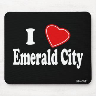 Amo la ciudad esmeralda tapetes de ratón