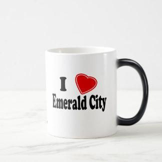 Amo la ciudad esmeralda tazas