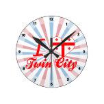 Amo la ciudad gemela, Georgia Reloj De Pared