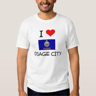 Amo la CIUDAD Kansas de OSAGE Camisas