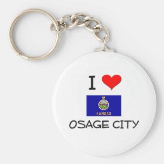 Amo la CIUDAD Kansas de OSAGE Llavero Redondo Tipo Pin