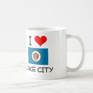 Amo la ciudad Minnesota del lago Tazas De Café