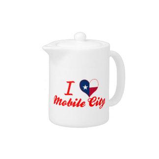 Amo la ciudad móvil Tejas