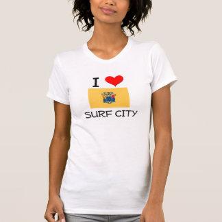 Amo la ciudad New Jersey de la resaca Camisetas