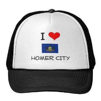Amo la ciudad Pennsylvania del home run Gorras De Camionero
