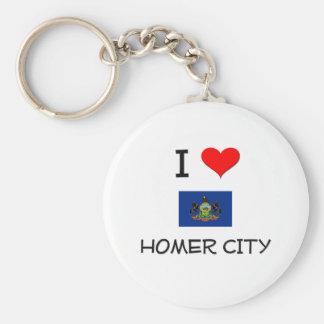 Amo la ciudad Pennsylvania del home run Llavero Personalizado