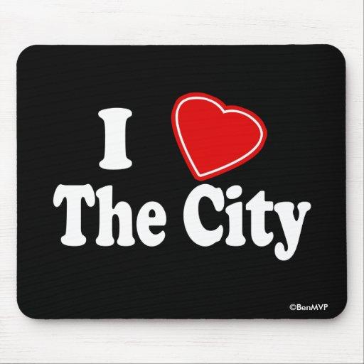 Amo la ciudad tapete de raton