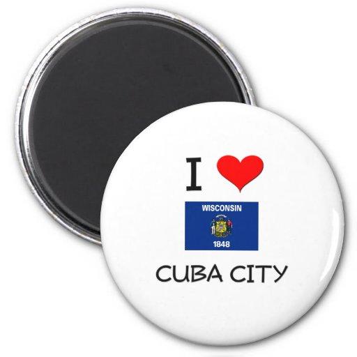 Amo la ciudad Wisconsin de Cuba Imán Para Frigorifico