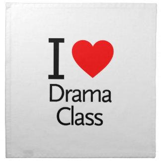 Amo la clase del drama servilleta de papel