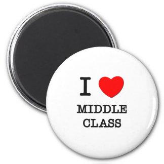 Amo la clase media imán redondo 5 cm