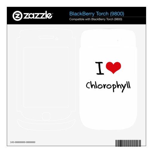 Amo la clorofila calcomanías para BlackBerry