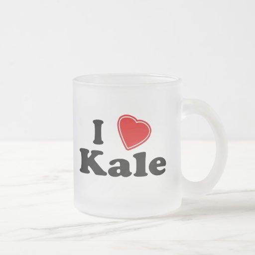 Amo la col rizada tazas de café