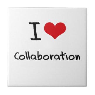 Amo la colaboración azulejo cuadrado pequeño