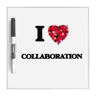 Amo la colaboración tablero blanco