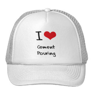 Amo la colada del cemento gorras