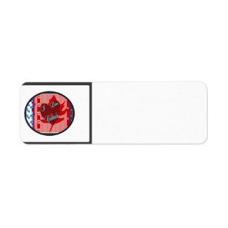 Amo la colección de Canadá Etiqueta De Remite