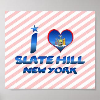 Amo la colina de la pizarra, Nueva York Poster
